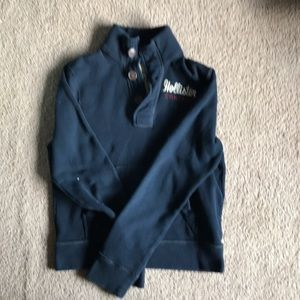 Hollister 3 button sweatshirt EUC